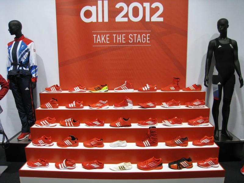 Schuhe der Olympia-Teilnehmer