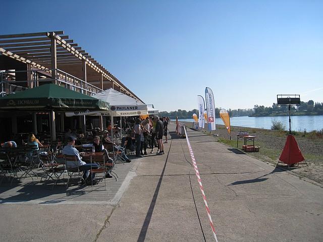 Start und Ziel vor dem Strandbad
