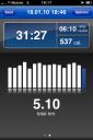 RunKeeper - aufgezeichneter Lauf