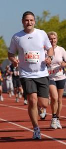Zieleinlauf Badenmarathon 2010