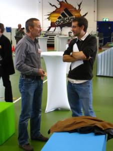 Schweizer Laufkollege Hugo Klaus im Austausch mit Adidas