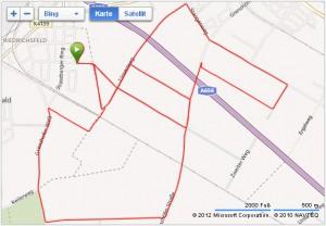 Laufkunst bzw. Entenlauf (Karte: GarminConnect / Bing)