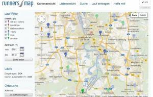 RunnersMap (Screenshot von www.runnersmap.org)