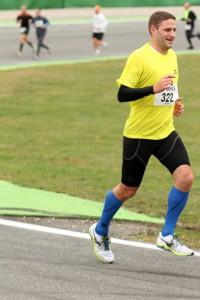 Hockenheimringlauf 2013 - nach 5km ist das Lächeln noch da