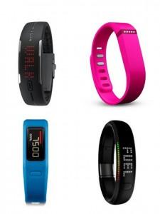 Activity-Tracker (Quelle: polar.com, garmin.com, nike.com, fitbit.com)