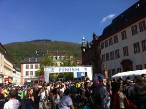 Heidelberg Halbmarathon 2014 - Zielbereich