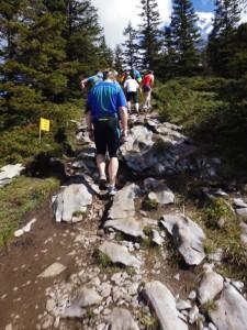 Jungfrau Marathon 2014 - steiniger Aufstieg